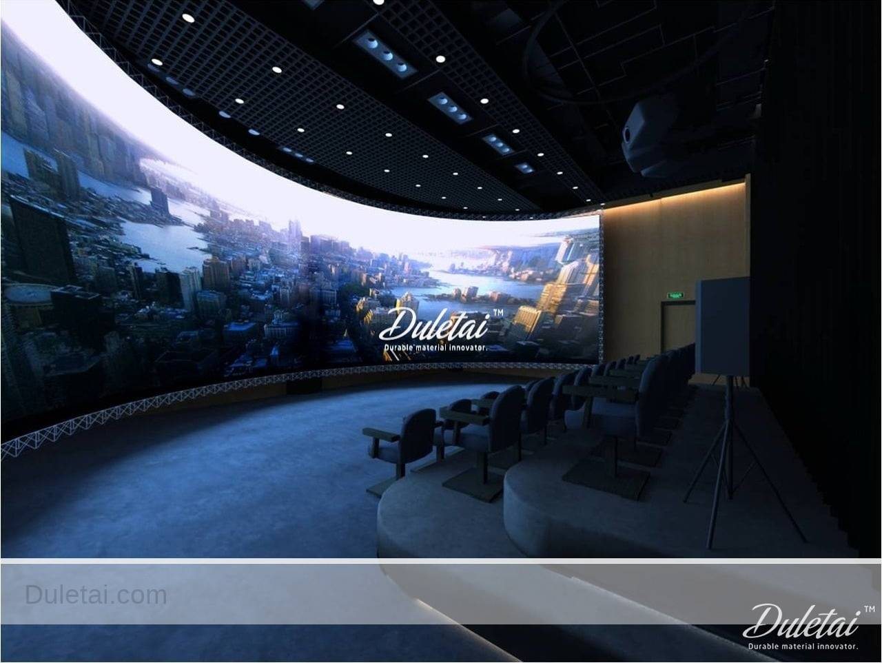 white projection screen film