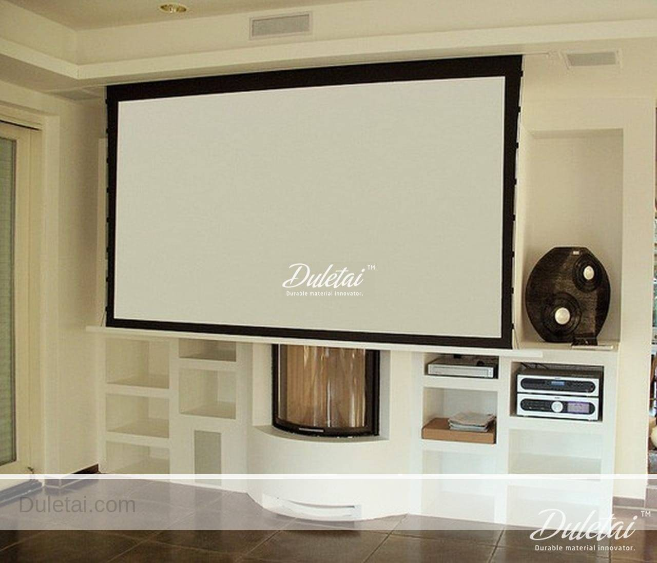 Drop Down Hidden Indoor Projector Screen Duletai New