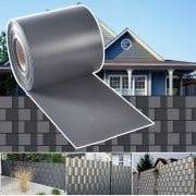 Hug-Flight-35m-PVC-Blinds-Fence-Wind-Protection-Panel-Soundproof-Screen-Grey