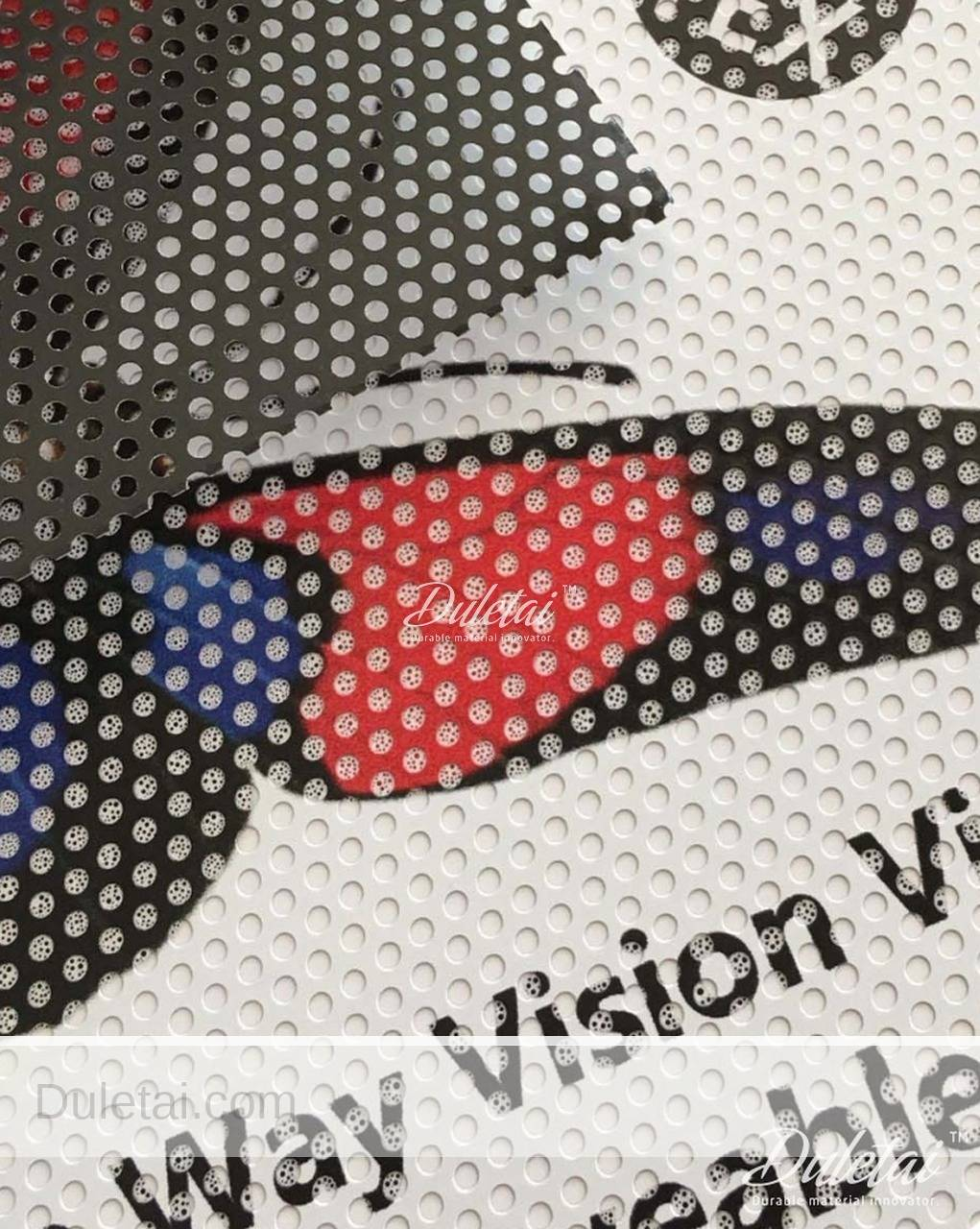 Perforated Mesh Film Printable White One Way Vision Vinyl