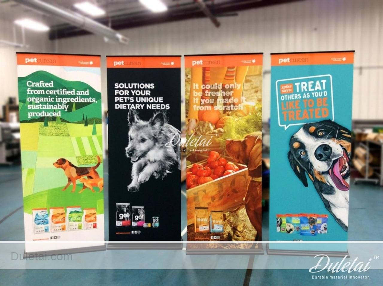 pet roll up banner