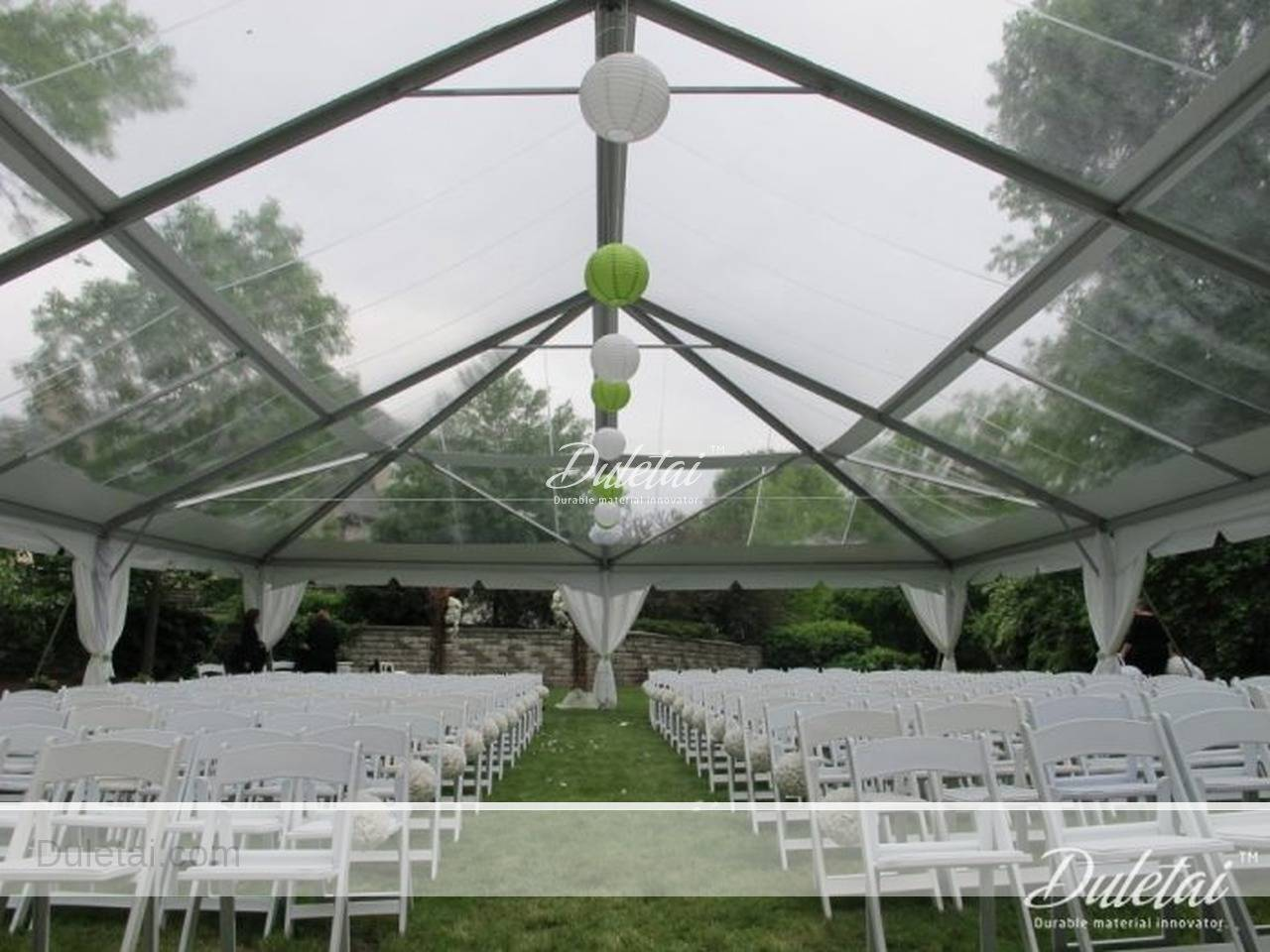 Clear pvc fabric for tent & awning window, transparent vinyl