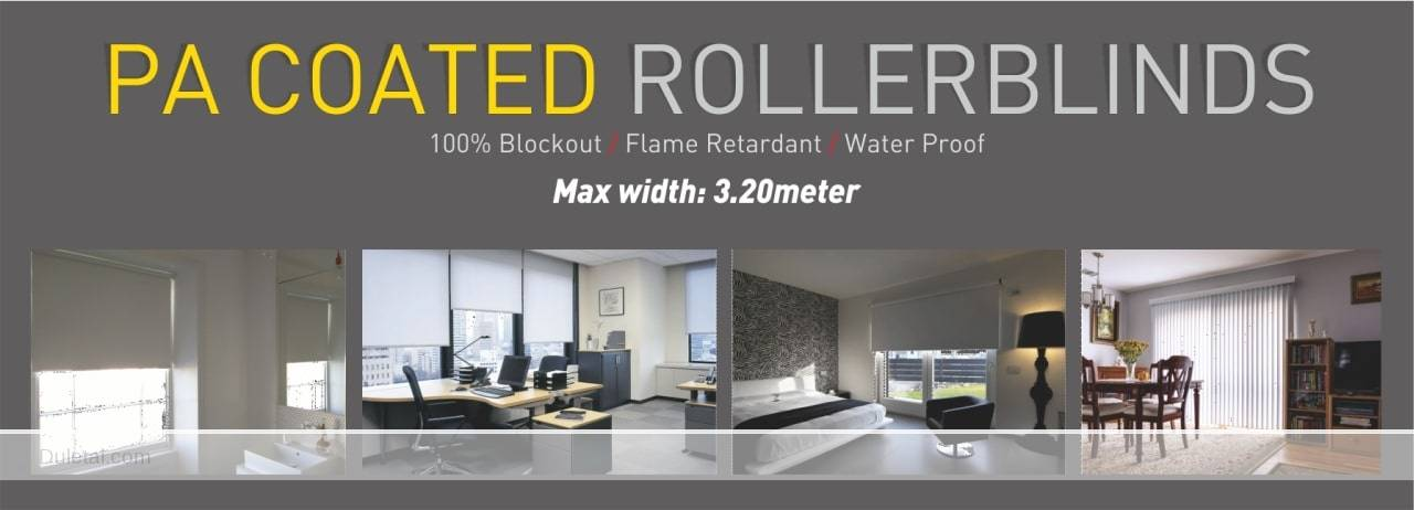polyester acrylic coated roller blind fabric