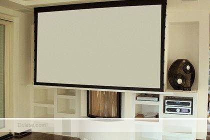 warp knitted projection screen fabric