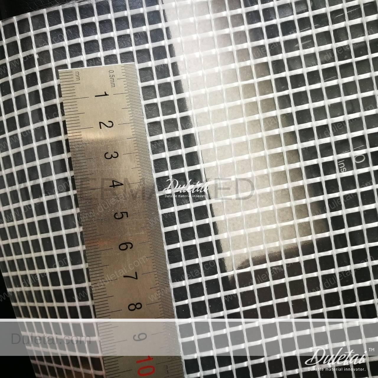 Transparent Mesh Tarpaulin Clear Type Pvc Laminated Vinyl
