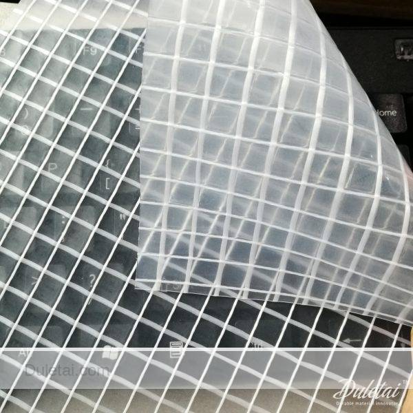 Transparent Mesh Tarps Clear Type Pvc Laminated Vinyl