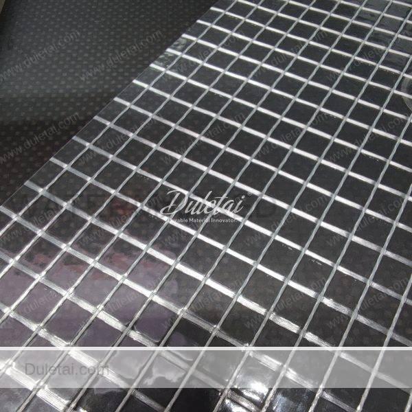 Transparent mesh tarpaulin