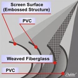 fiberglass projection screen material