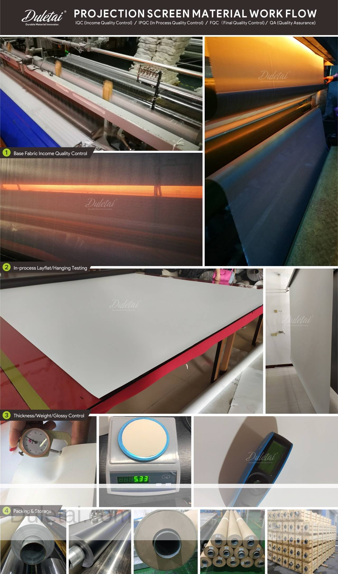 projection screen production