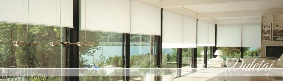 Fiberglass fabric window curtain