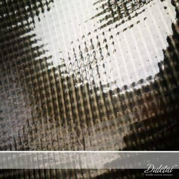 Clear mesh tarpaulin