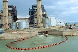 Oil pollution booms