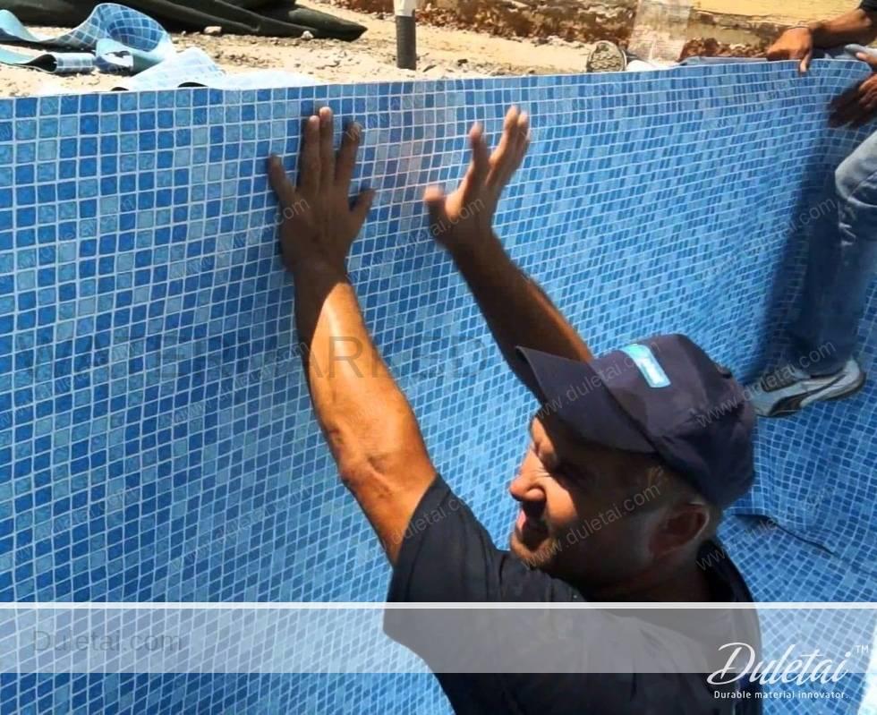 Swimming Pool Liner Waterproof 0 80mm Above Ground Pvc
