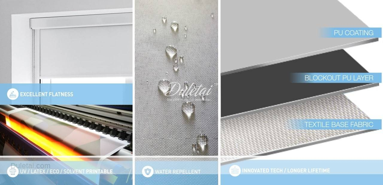 pvc free roller blind fabric