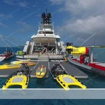 inflatable floating platform
