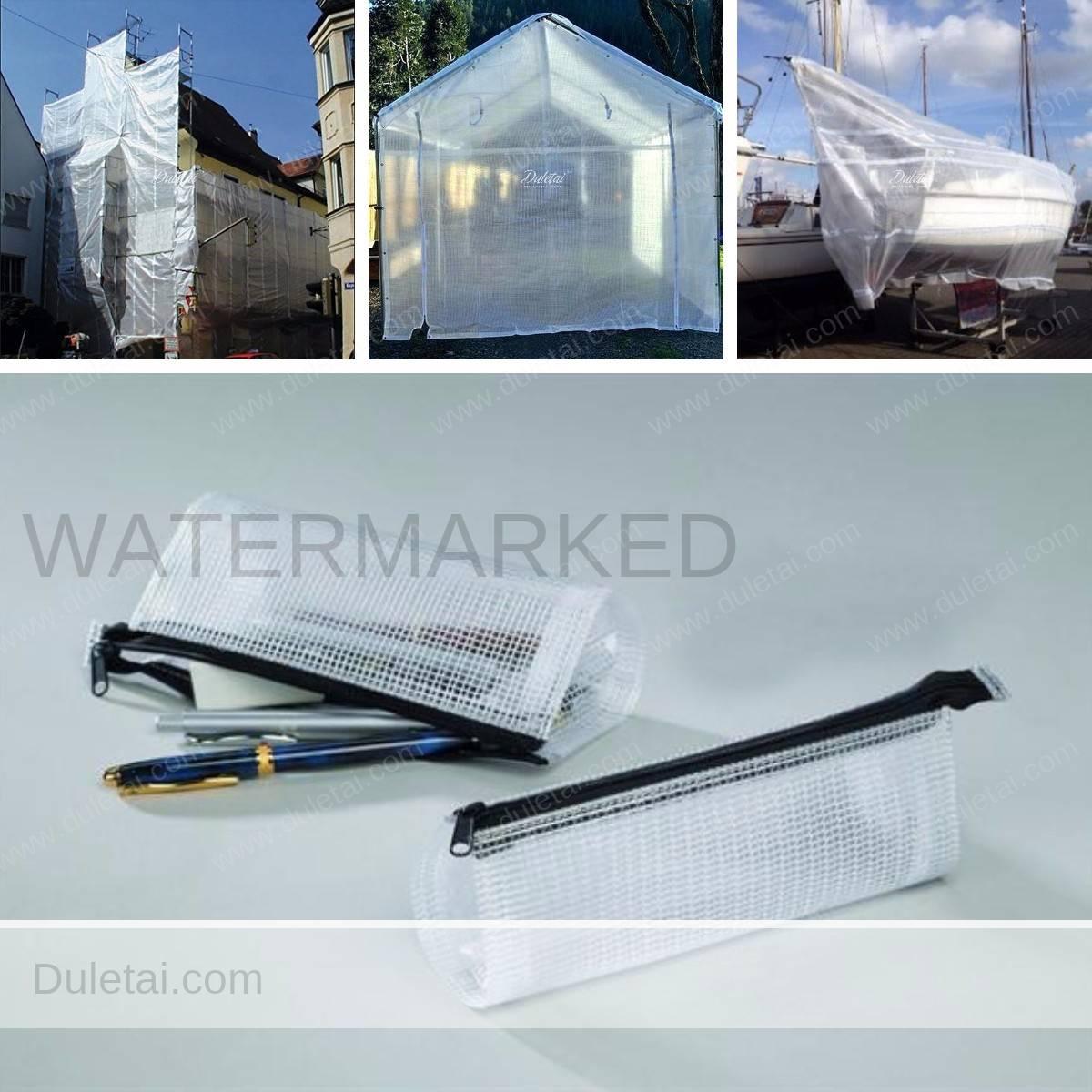 Clear tarpaulins applications